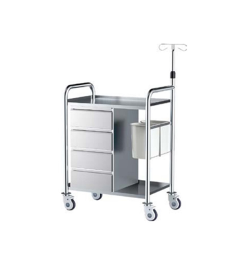 Stainless Steel Treatment medical trolley Multipurpose Cart